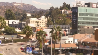 Los Angeles City Buildings Street Transportation USA Trees Tourism Footage Hollywood Travel Famous Landmark Aerial Tourism Mountain Cars Timelapse HD