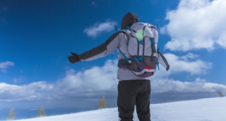 Sky Man Raised Hands Mountains Arms Success Freedom Top Mountain Nature Person Achievement Outdoor Travel Blue People Summit Free Adventure Happiness Climbing Victory Hiking Sun Happy Male Joy Winning