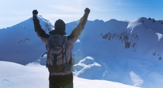 Freedom Arms Success Top Mountain Sky Nature Person Achievement Man Travel Outdoor Adventure Male People Happy Climbing Blue Summit Free Victory Hiking Happiness Sun Hike Lifestyle Joy Peak Landscape