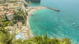 Exotic Coastline Coast Aerial Town Vacation Holiday View Heaven Travel Europe Italy Beauty Nature Concept Sea Ocean Mediterranean Uhd 4K