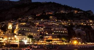 Summer Nature Night Amalfi Positano Italy Travel Tourism Mediterranean Sea Coast Europe Landscape Village Architecture Italian Town Campania Mountain Vacation Naples Rock View Famous