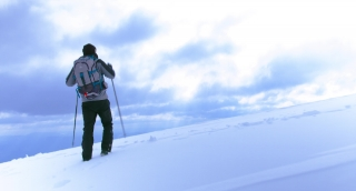 Sport Snowy Mountaineer Extreme Steep Up Background Walking Hiking Winter Mountain Snow Outdoor Cold Adventure White Travel Walk Success Activity Climbing Male People Ice Person Sky Man Alone Ski Summ